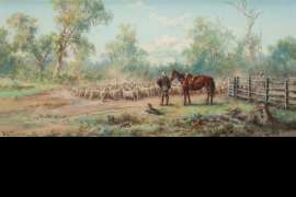 Droving by JAMES ALFRED TURNER