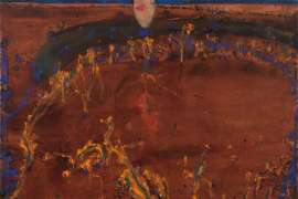 Moon & Wattle Blossom Night by JOHN OLSEN