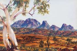 Twin Ghosts by ALBERT NAMATJIRA