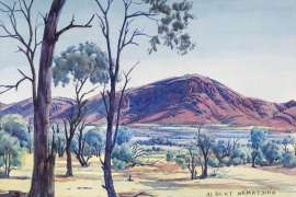 Valley, Western MacDonnells by ALBERT NAMATJIRA