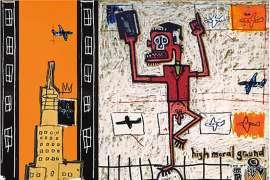 Notes to Basquiat series (i) Animism (ii) Big Shoes (iii) High Moral Ground (iv) Prayer (v) Primal by GORDON BENNETT