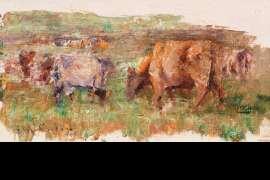 Grazing Cows by FREDERICK McCUBBIN