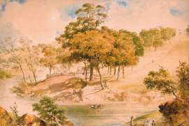 Ferry on the Yarra at Studley Park by HENRY BURN