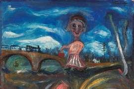 Woman on the Railway by DANILA VASSILIEFF