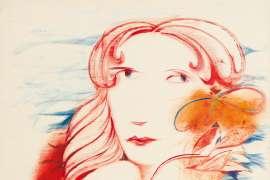 Girl with Frangipani by CHARLES BLACKMAN