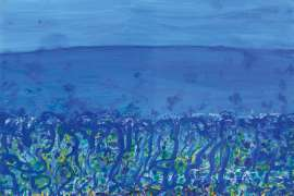 Childhood by the Sea, Popping Blue Bottles by JOHN OLSEN