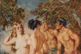 Forest Encounter by NORMAN LINDSAY