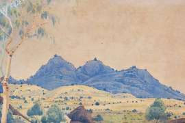 Central Australian Landscape by ALBERT NAMATJIRA