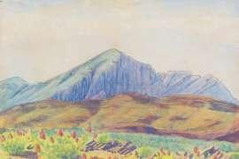Near Wildcat, Mount Sonder by ALBERT NAMATJIRA