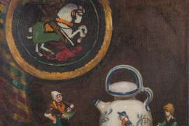 Untitled (Porcelain Figures and Teapot) by DORA WILSON