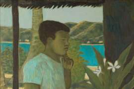 Islander Boy Contemplating by RAY CROOKE