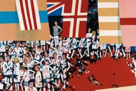 People and Flags by LOUIS JAMES