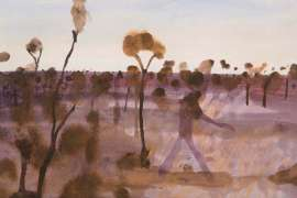 Landscape with a Figure by JOHN OLSEN