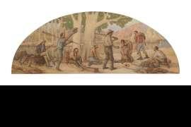 Explorers on Riverbank by JOHN SAMUEL WATKINS