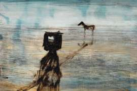 Kelly with Gun - Horse in Distance by SIDNEY NOLAN