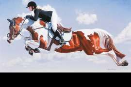 In Search of Pegasus (Pinto Jumping) by LAWRENCE STARKEY