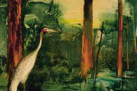 Ibis and Forest by ALBERT TUCKER