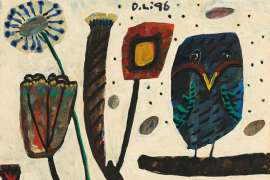 Still Life with Owl by DAVID LARWILL