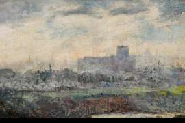 Towards Melbourne from South Yarra by FREDERICK McCUBBIN