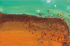 Grevilleas and Tableland by JOHN OLSEN