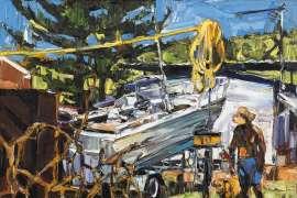 Caravan Park (Boat & Wire) by NICHOLAS HARDING