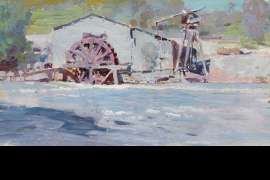 The Old Waterwheel, Warrandyte by PENLEIGH BOYD