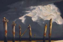 Remnant Pier with a Stormy Sky by RICK AMOR