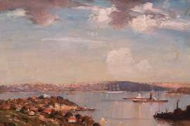 Sydney Harbour from Neutral Bay by JAMES R. JACKSON