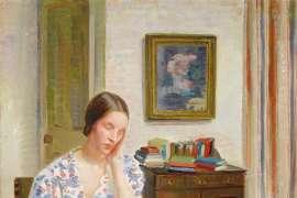 Interior with Josephine, London by NORA HEYSEN
