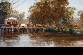 Wagon Train on the Murray by JANET CUMBRAE-STEWART