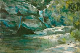 Waterfall, Bargo River by RAY CROOKE