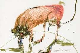 Depressed Old Monkey by JOHN OLSEN
