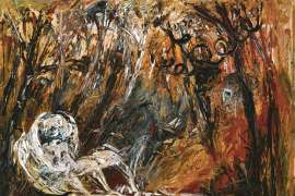 Lovers and Ram in a Forest by ARTHUR BOYD
