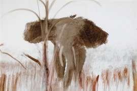 Charging Elephant by SIDNEY NOLAN