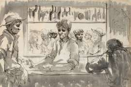 Pub in Wilcannia by RUSSELL DRYSDALE