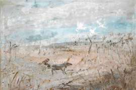 Horse Drawn Figure in the Wimmera by ARTHUR BOYD