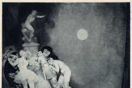 Death of Pierrot by NORMAN LINDSAY