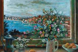Double Bay and Wildflowers by MARGARET OLLEY