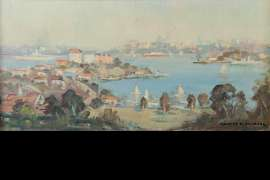 The Harbour from Neutral Bay by JAMES R. JACKSON
