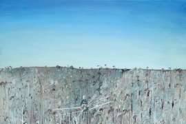 Aeroplane, Riverbank and Carcass by ARTHUR BOYD