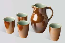 Jug and Four Beakers by GWYN HANSSEN PIGOTT