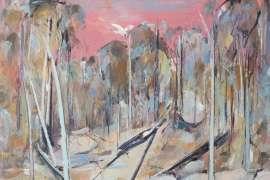 Pink Shoalhaven Landscape by ARTHUR BOYD