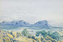 Kariltynja, Western Australia by ALBERT NAMATJIRA