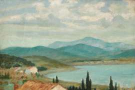 Mountain Country near Le Lavandou II by RUPERT BUNNY