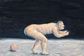 Painting (Bending Figure with Ball) by PETER BOOTH