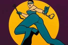 Dangerous Career Babe: The Catburglar (Homage to Mel Ramos) by HAZEL DOONEY