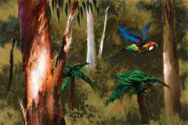 Parrot in the Bush by ALBERT TUCKER