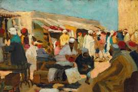Untitled (North African Marketplace) by ETHEL CARRICK FOX