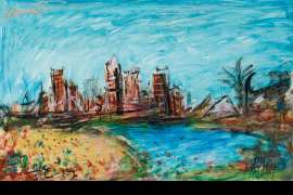 Brisbane River by PRO HART