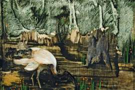 Ibis in Swamp by ALBERT TUCKER